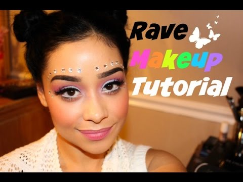Rave Makeup Tutorial | EDM Festival Makeup - YouTube