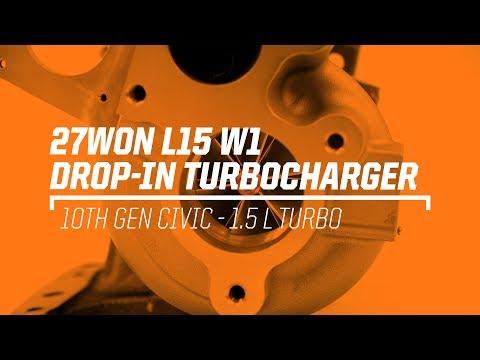 2016+ Honda Civic Turbo Kit Upgrade, 27WON W1 drop in turbocharger