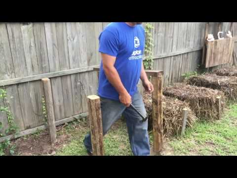 Building a Compost Bin from scrap wood!