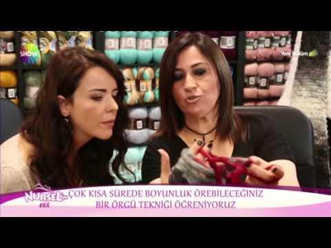 Alize Fashion Boucle ve Country ile Kol Örgüsü Boyunluk Yapımı-Making Arm Knitting Cowl