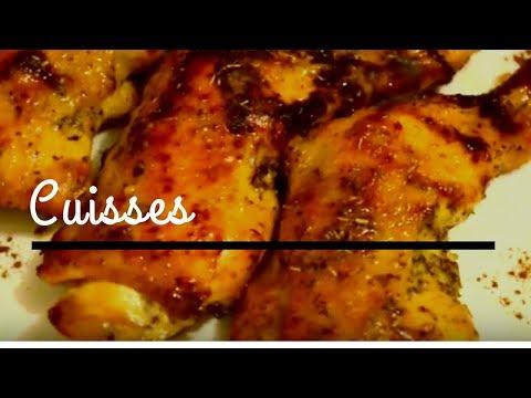 recette-de-cuisse-de-poulet-avec-un-filet-de-miel-♡