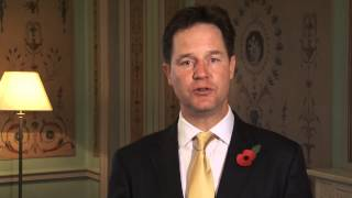 Remembrance Day 2013: message from Nick Clegg