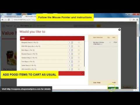 How to Get Best Online Food Prices at McDonalds - ShopSmartPrice