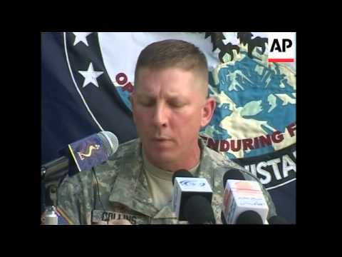 Presser by US military on alleged Kabul suicide bomber cell
