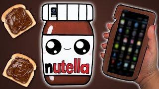 😍🍫 Tutorial: Funda para Móvil/Tablet de Nutella Kawaii    Nutella Mobile Case DIY 🍫😍