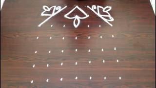 deepam kolam with 7x7 dots deepam muggulu designs with dots simple rangoli designs with dots