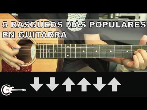 5 Rasgueos Mas Usados en la Música Popular - Tutorial Guitarra (HD)
