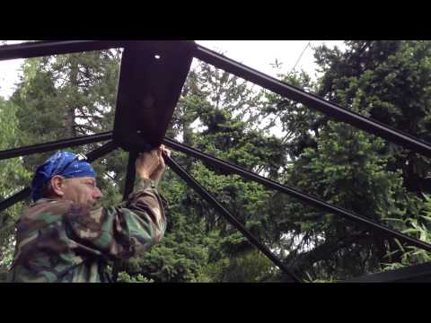 Mission Creek 10X12 Hard top Gazeebo build tutorial YouTube