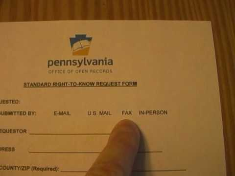 How To Get Government Records in Pennsylvania Part 1 of 2