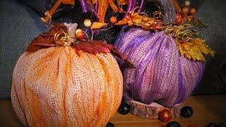 Burlap Mesh Pumpkins ~ Featuring Miriam Joy