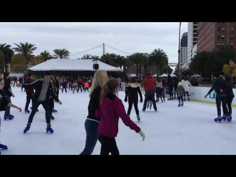 Ice Skating Rink at Embarcadero Center 2016