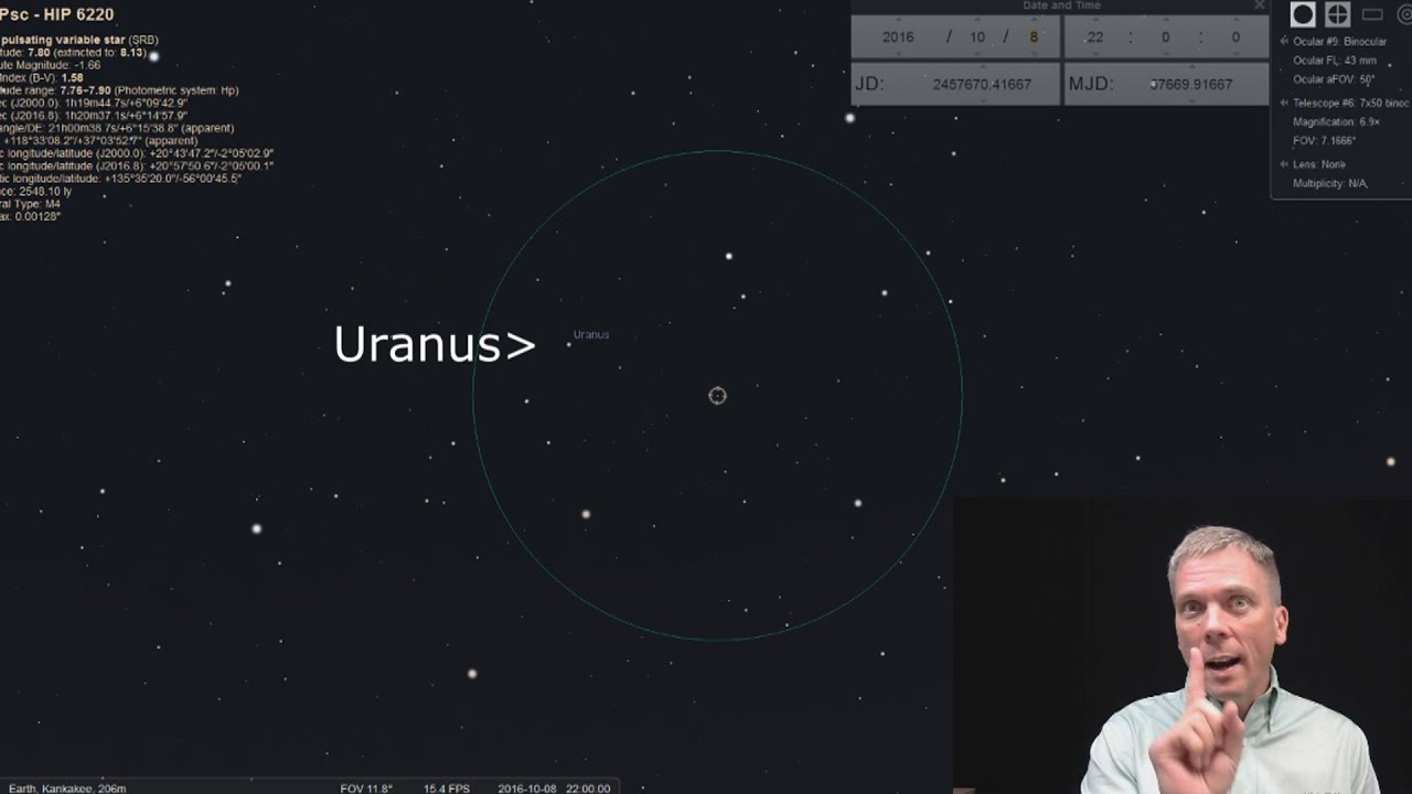 We'll all get a great view of Uranus tonight, and we won't even need a telescope