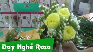 Cách bó hoa hồng tươi cho ngày Nhà Giáo Việt Nam 20/11 (3 hoa) - How to make Rose Boutique