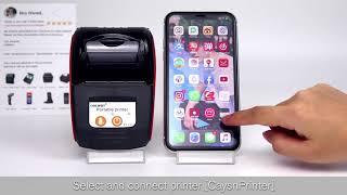 GZQIANJI GZM5811 58mm Thermal Printer Portable Mini Bluetooth Wireless Receipt Ticket Printer