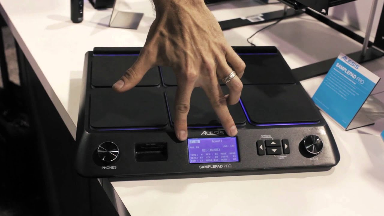Alesis Sample Pad Pro NAMM 2014 - YouTube
