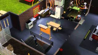 The Sims 3 Ambitions : firefighter job! with sound (HD)!!!!