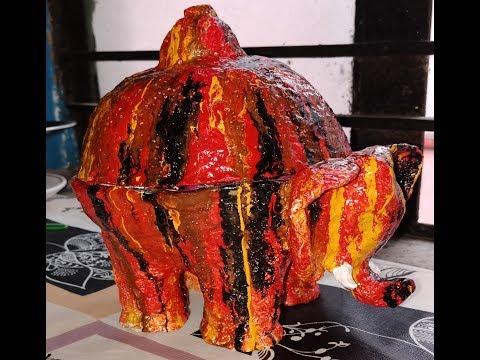 Elephant Bowl (Paper Mache Project)