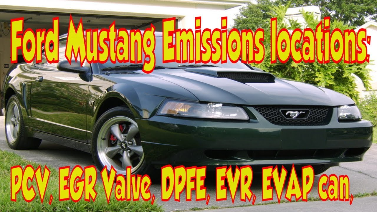 ford mustang emissions smog locations egr valve system pcv evap canister [ 1280 x 720 Pixel ]