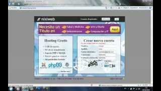 Hosting gratuito y sin publicidad, joomla.wordpress,cms(Regiistro de cuenta: http://api.nixiweb.com/redir/782945 ¿Qué es nixiweb? Nixiweb es un sitio que ofrece alojamiento web gratuito para usuarios de habla ..., 2012-05-14T17:22:21.000Z)
