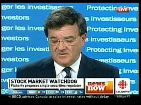 Flaherty Announces Single Securities Regulator Part 2 of 2