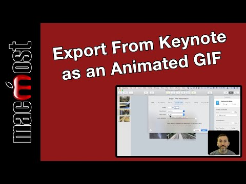 How To Export From Keynote As an Animated GIF (MacMost #1891