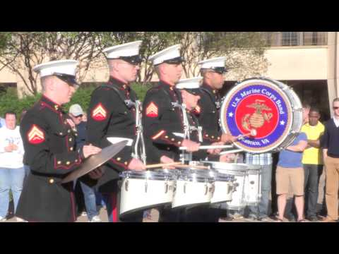 Hullabaloo 2015 - Drumline Battle 1: Scots Guard vs. Marines