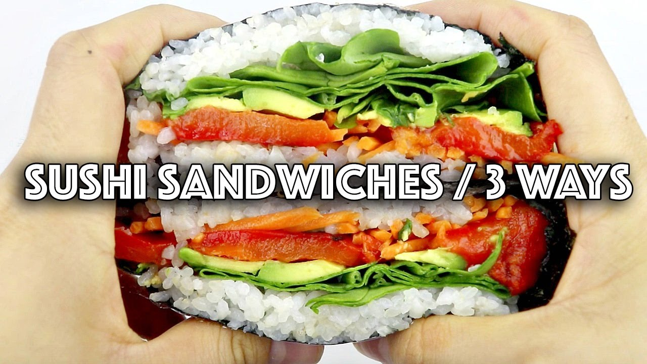 3 VEGAN SUSHI SANDWICH (ONIGIRAZU) RECIPES + ANNOUNCEMENT!