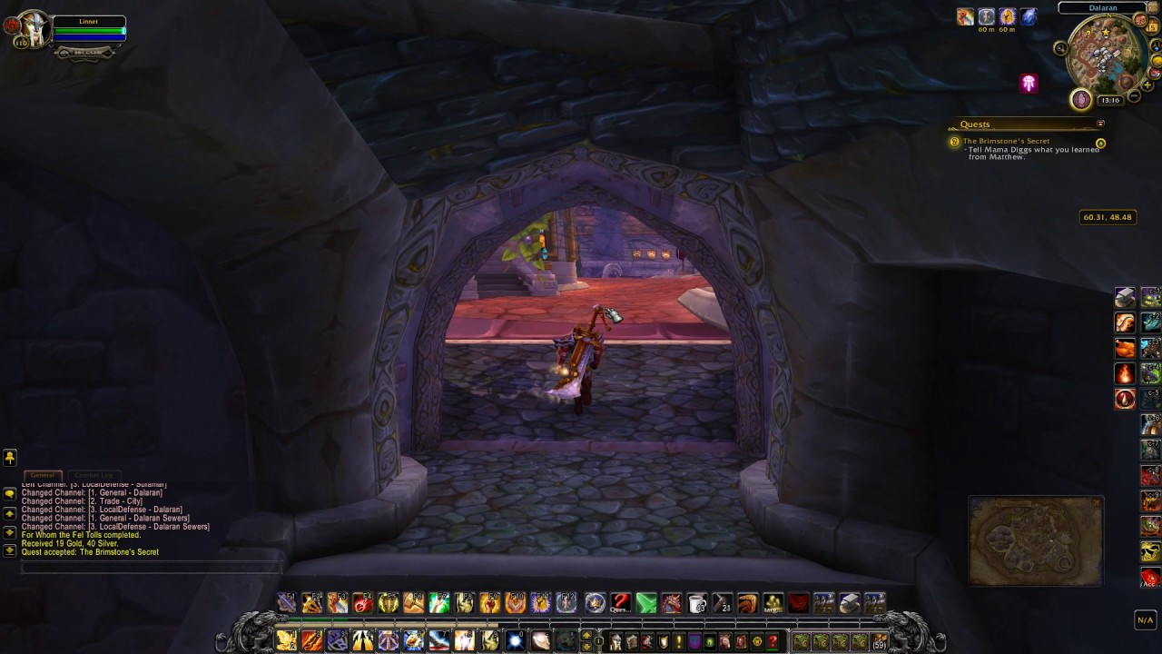 The Brimstones Secret Quest Id 39817 Playthrough Wow Youtube