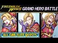 Fire Emblem Heroes - Grand Hero Battle: Narcian INFERNAL All GHB Elite Quests w/F2P & Common Units!