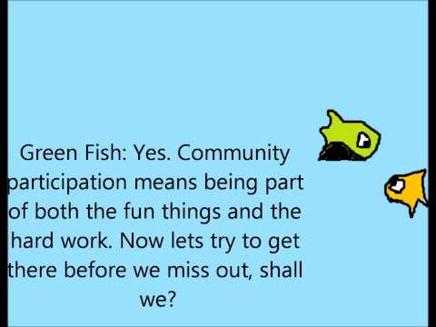 A cartoon about community participation.