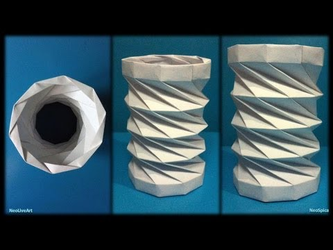 collapsible-paper-tower-helix-decagon