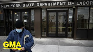 Unemployment report shatters record with 3.28 million Americans filing claims l GMA