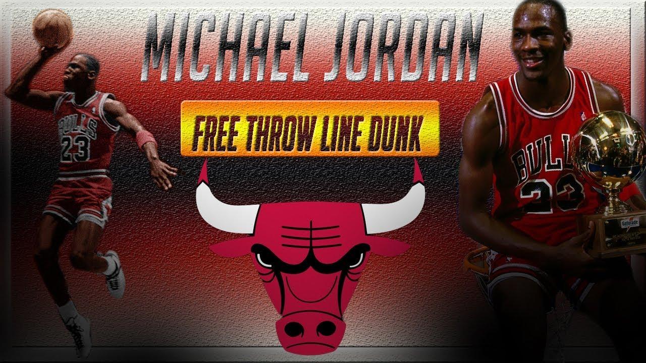 5630e4791ce Michael Jordan Iconic Free Throw Line Dunk 1987 - YouTube