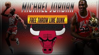 michael jordan iconic free throw line dunk