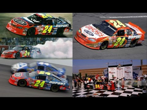 All 3 of Jeff Gordon's Wins in 2002 (Finishes) Jeff Gordon E