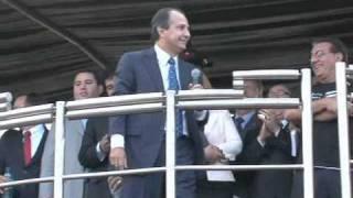 Palavra Silas Malafaia em manifestação contra PL 122
