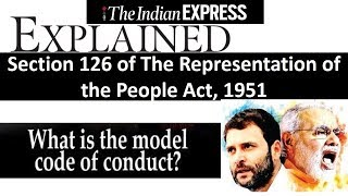 15 DECEMBER 2017 THE INDIAN EXPRESS Explained HINDI | MODEL CODE OF CONDUCT | RPA 1951