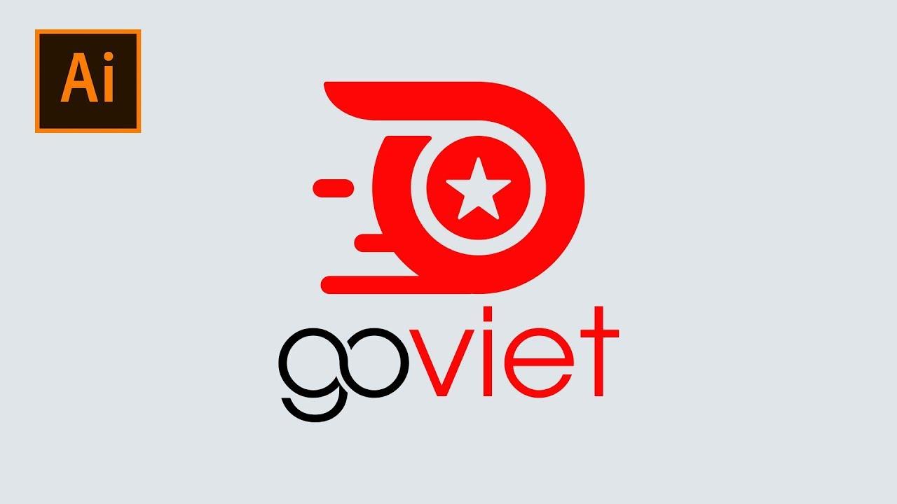 Create Go-Viet Logo In Adobe Illustrator | Thuy Uyen Design