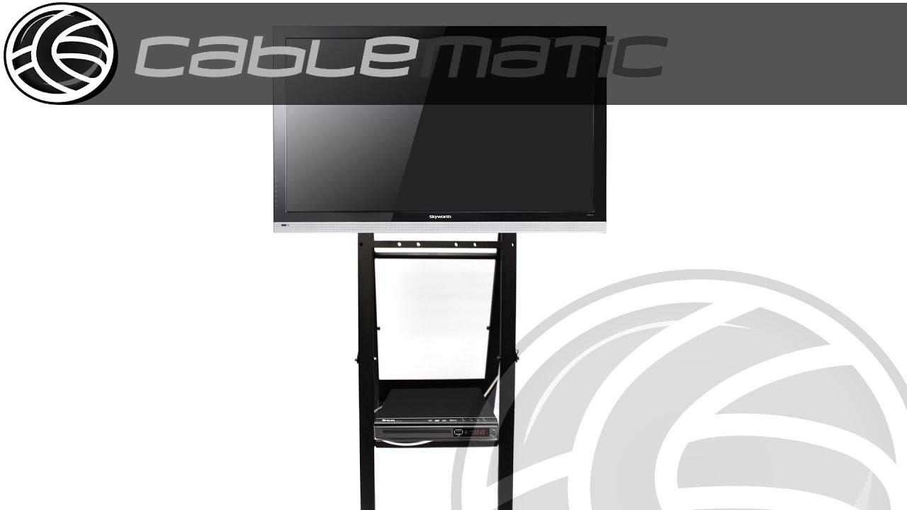 Soporte de pantalla plana tv 32 42 46 tipo caballete con ruedas distribuido por cablematic - Soporte con ruedas para tv ...