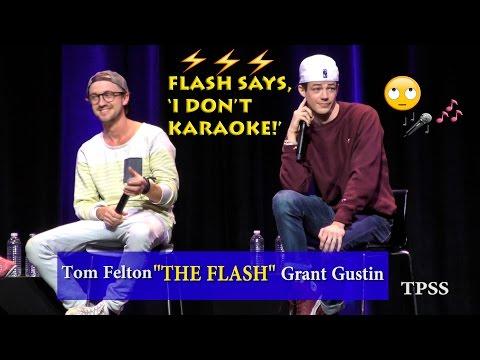 Grant Gustin says, 'I don't do karaoke'! Part 3
