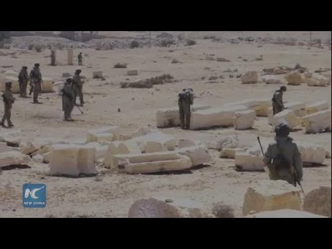 RAW: Russian sappers begin de-mining Palmyra ruins in Syria