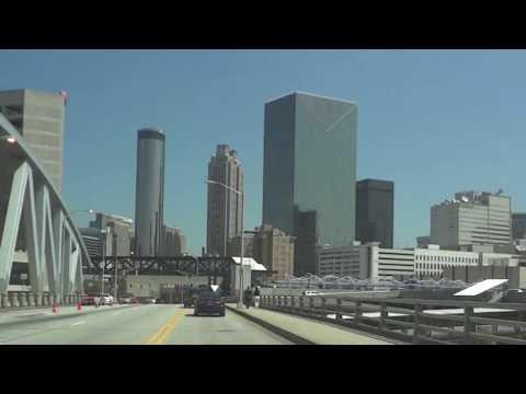 Atlanta Georgia  Mercedes Benz Stadium  (Driving Downtown)