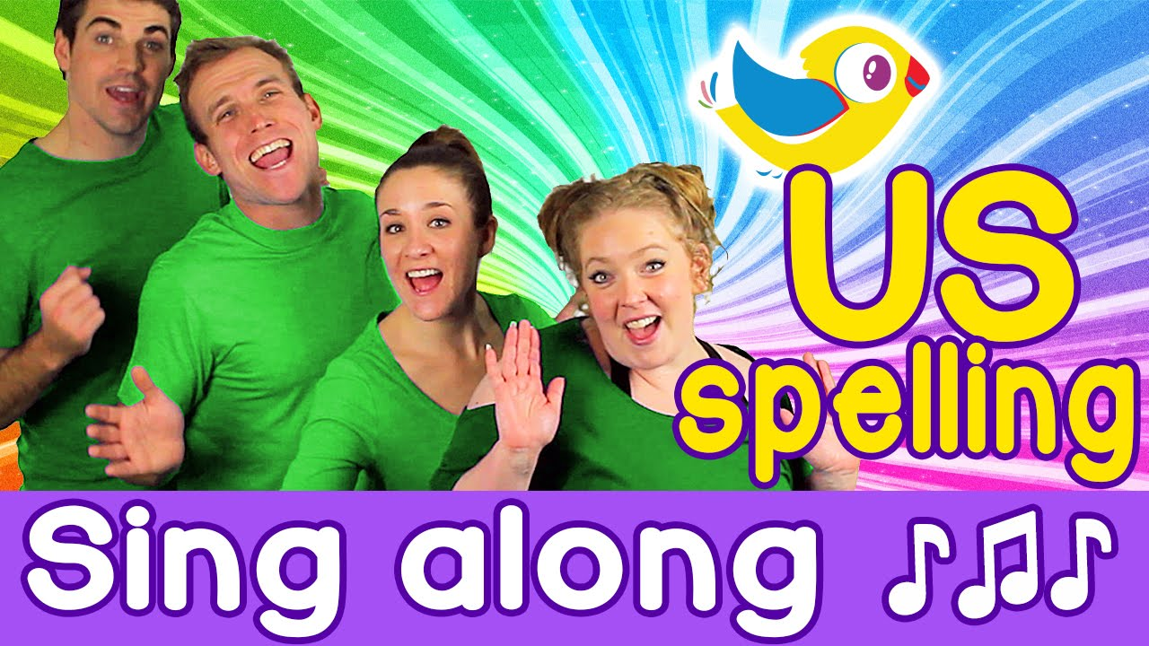 Sing Along - Colors Song for kids, with lyrics (US spelling) - YouTube