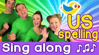 Sing Along - Colors Song for kids, with lyrics (US spelling)