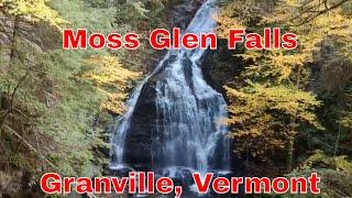 Moss Glen Falls, Granville, Vermont. Vermont Waterfalls