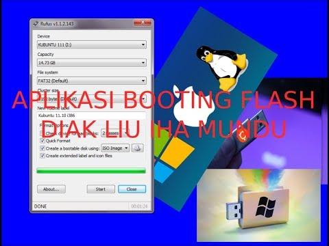 Maneira booting flash disk utiliza aplikasaun Rufus 3