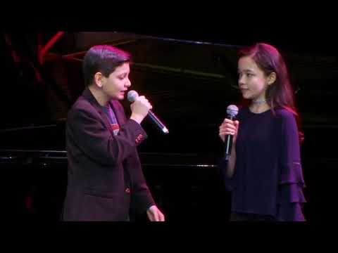 """Luca Padovan and Isabella Russo Performing a Song From """"The Book Thief: The Musical"""""""