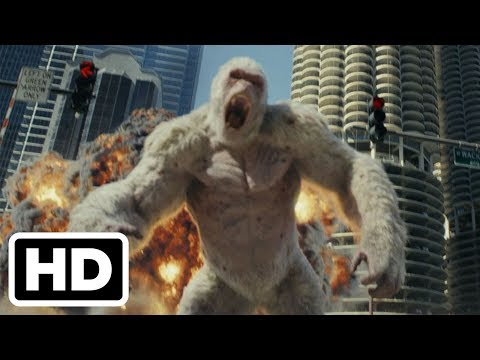 Rampage Official Trailer #1 (2018) Dwayne Johnson, Naomie Harris