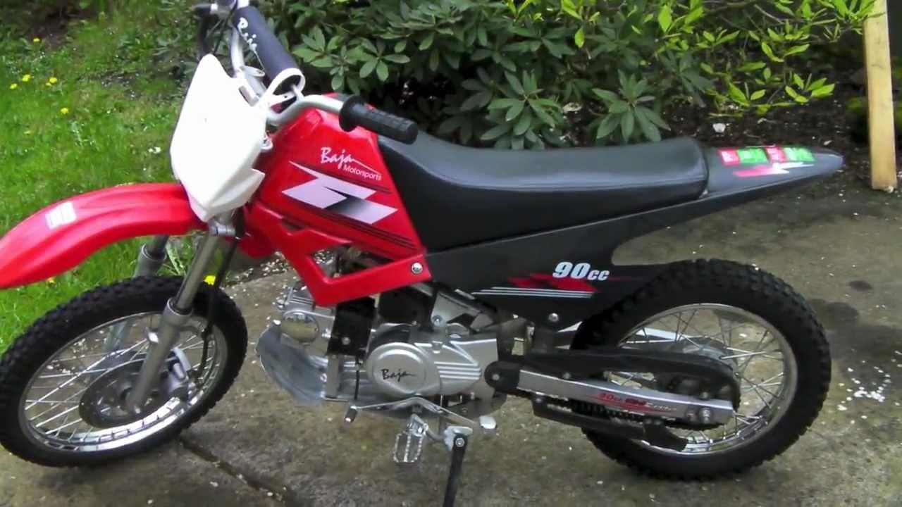 100cc Honda Dirt Bike Baja 90cc Dirt Bike Runner Cold Start Up & Walkaround ...