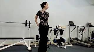 Видео урок, Китайский танец, Разминка, упражнения для плечевого пояса и растяжку спины